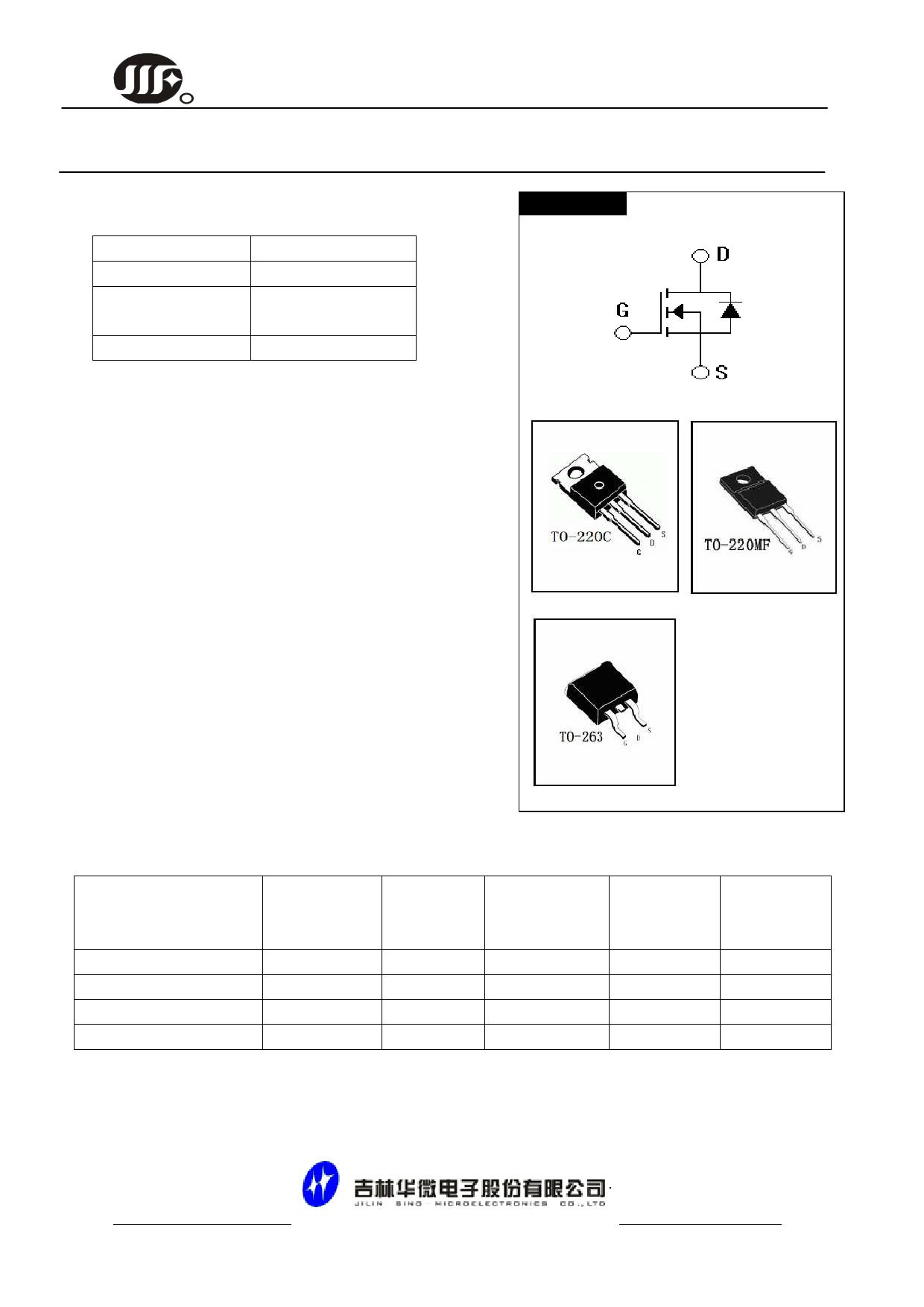 JCS75N75CF datasheet