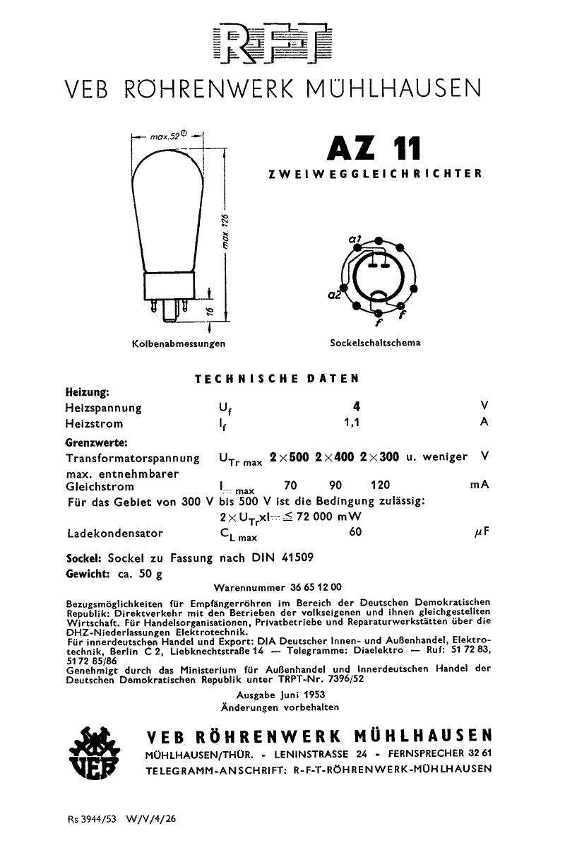 AZ11 دیتاشیت PDF