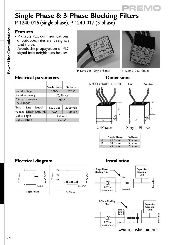 P-1240-016 даташит PDF