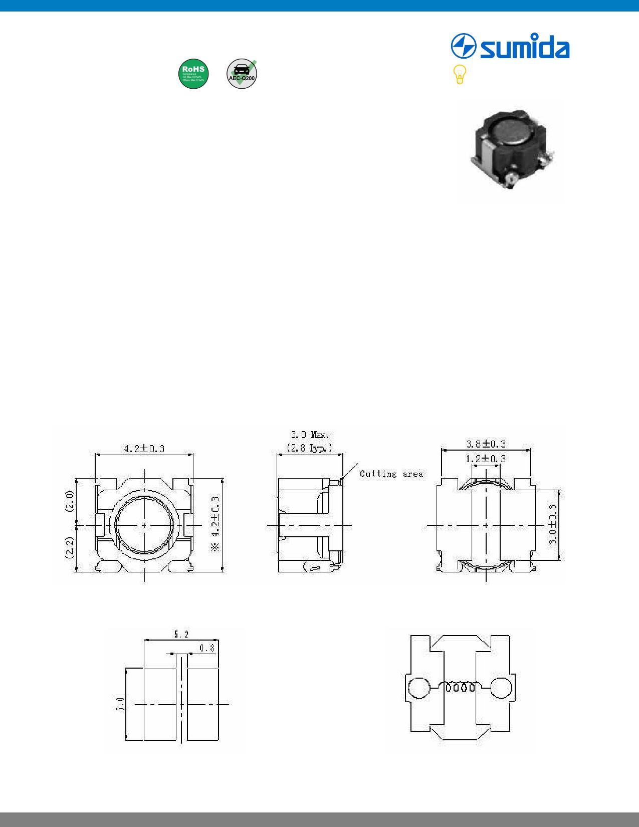 CDRH40D28T125 Datasheet, CDRH40D28T125 PDF,ピン配置, 機能