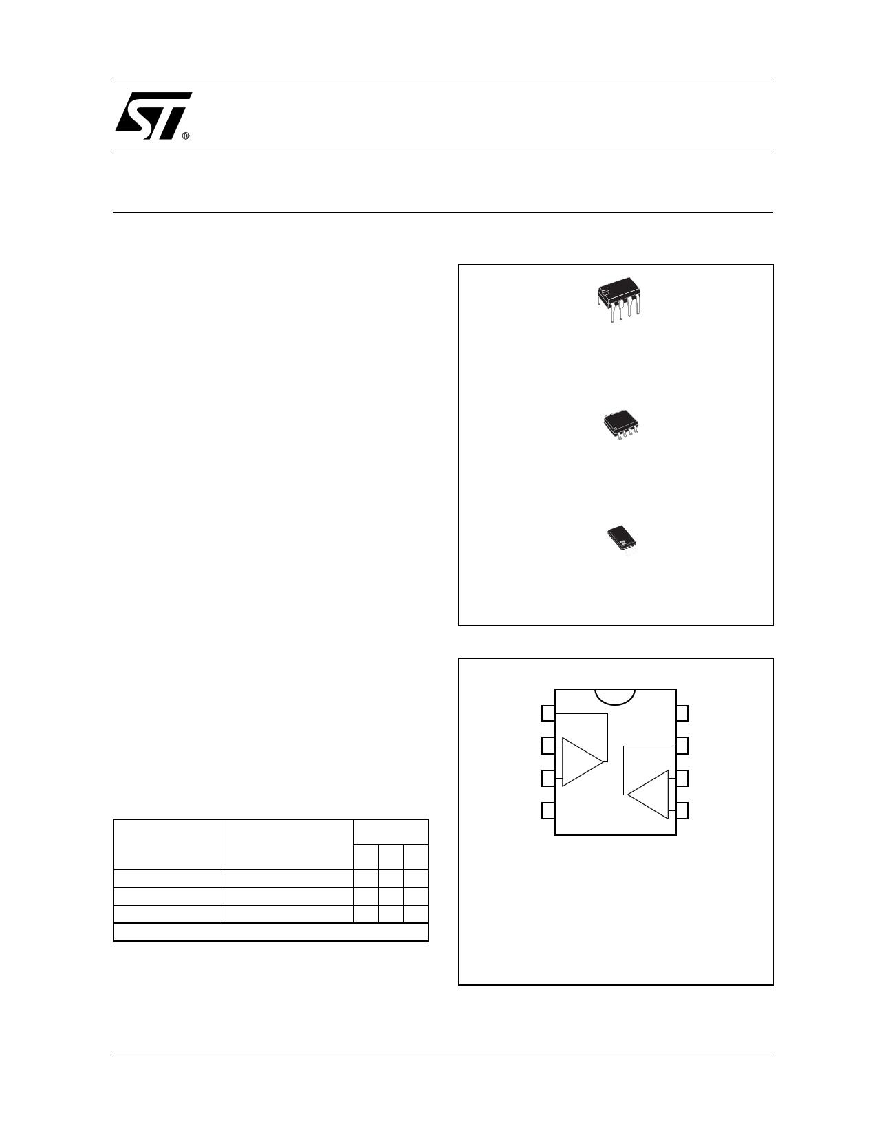 TS27L2AC Datasheet, TS27L2AC PDF,ピン配置, 機能