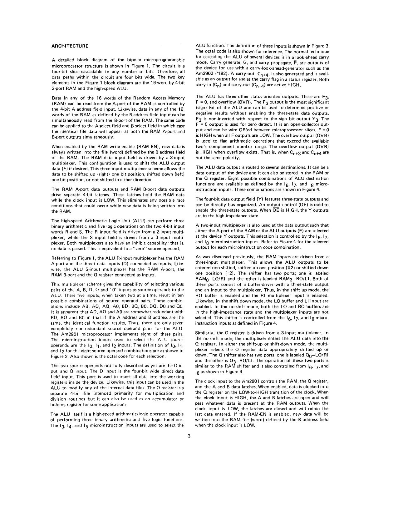 AM2901 data sheet