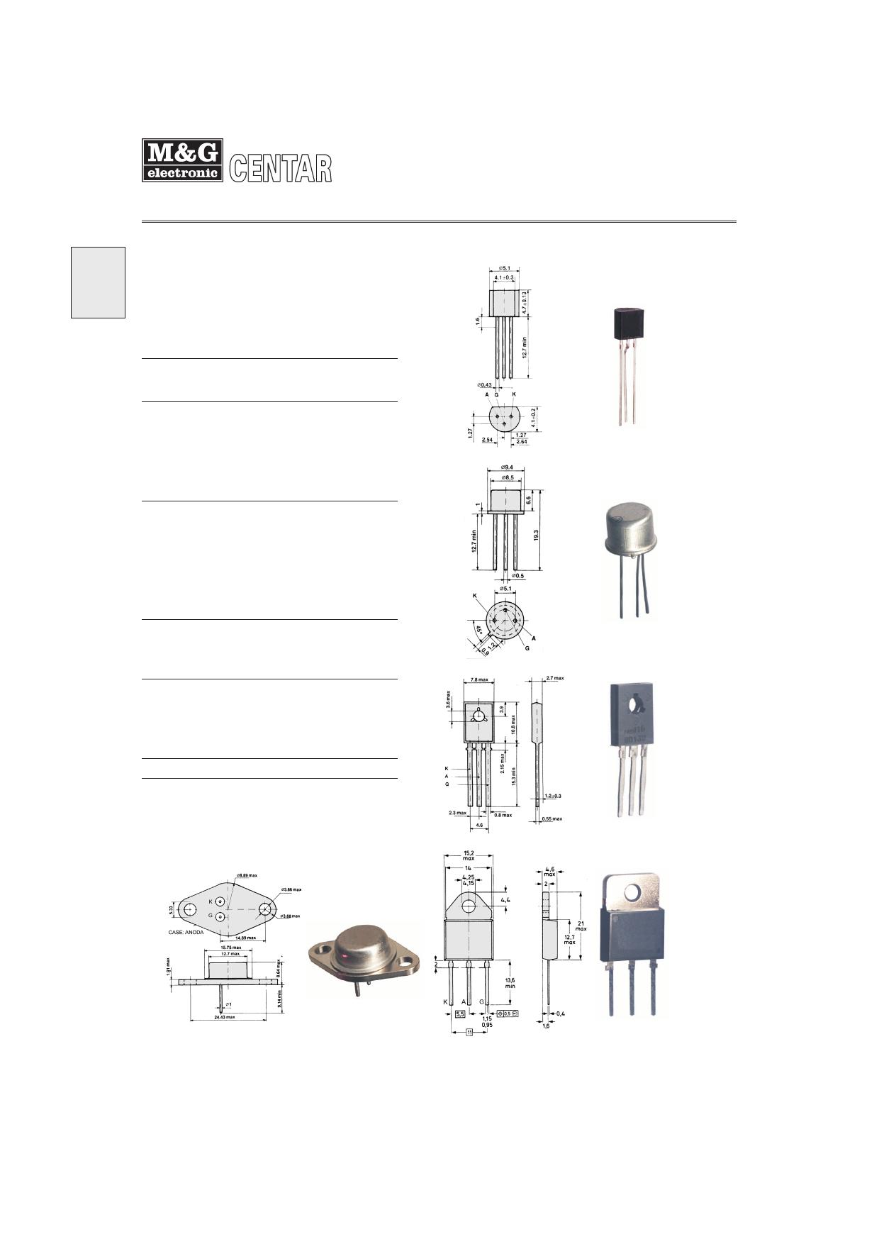 BT151 Datasheet, BT151 PDF,ピン配置, 機能