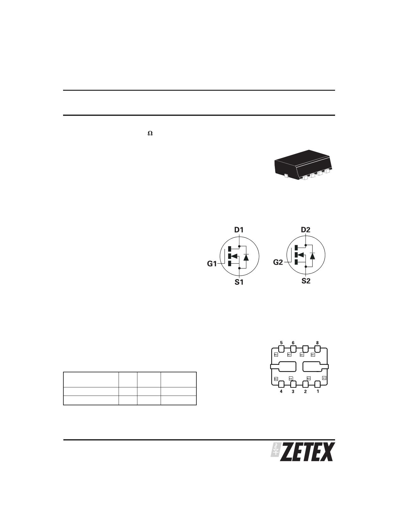 ZXMN2AM832 دیتاشیت PDF