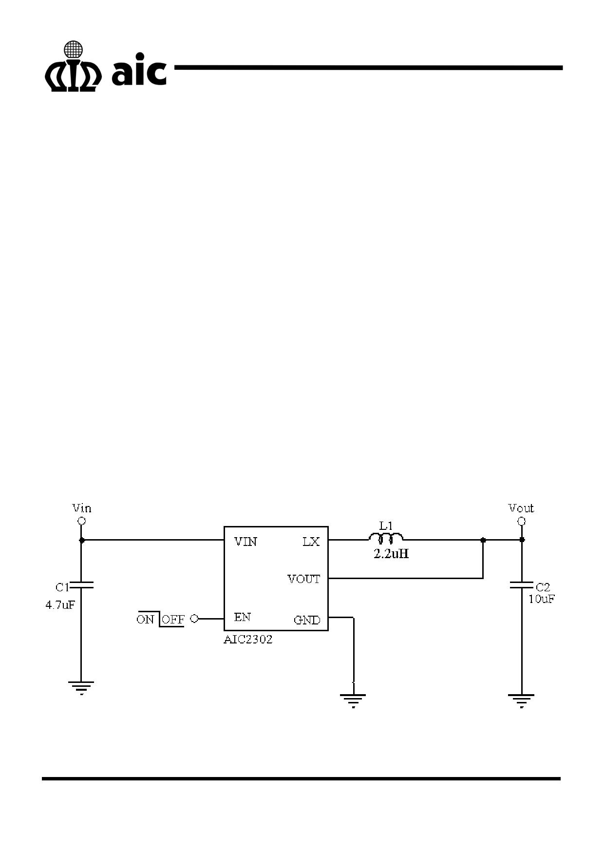 AIC2302 دیتاشیت PDF