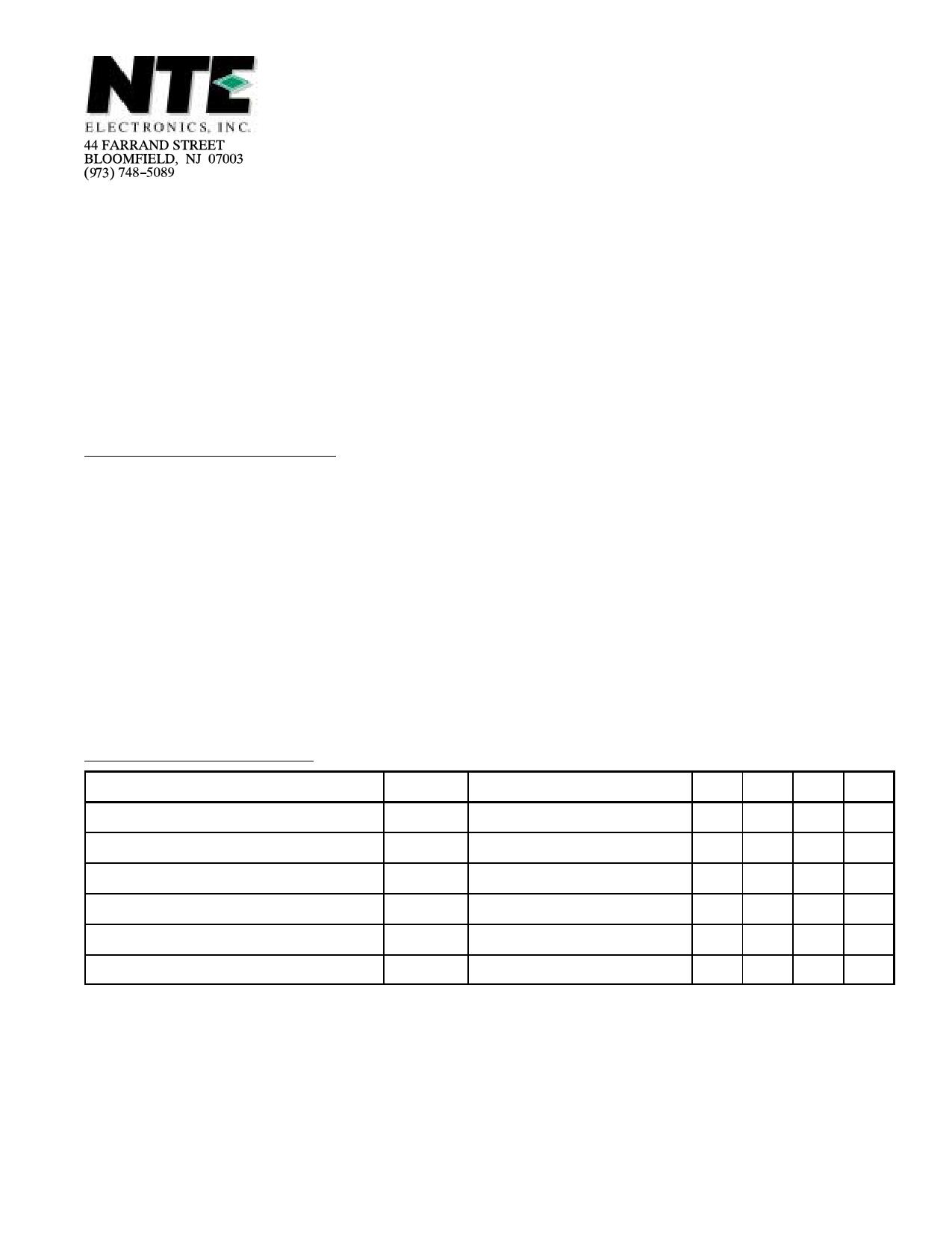 NTE56 دیتاشیت PDF