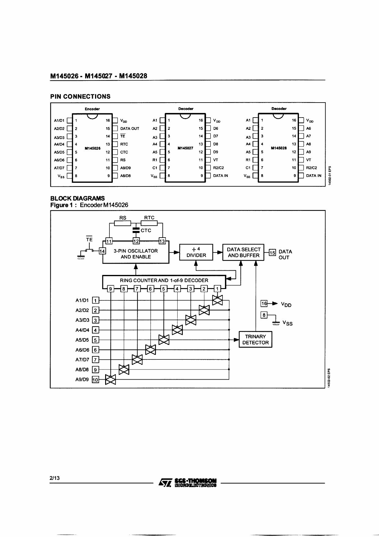 m145026b1 datasheet pdf   pinout    decoder circuit