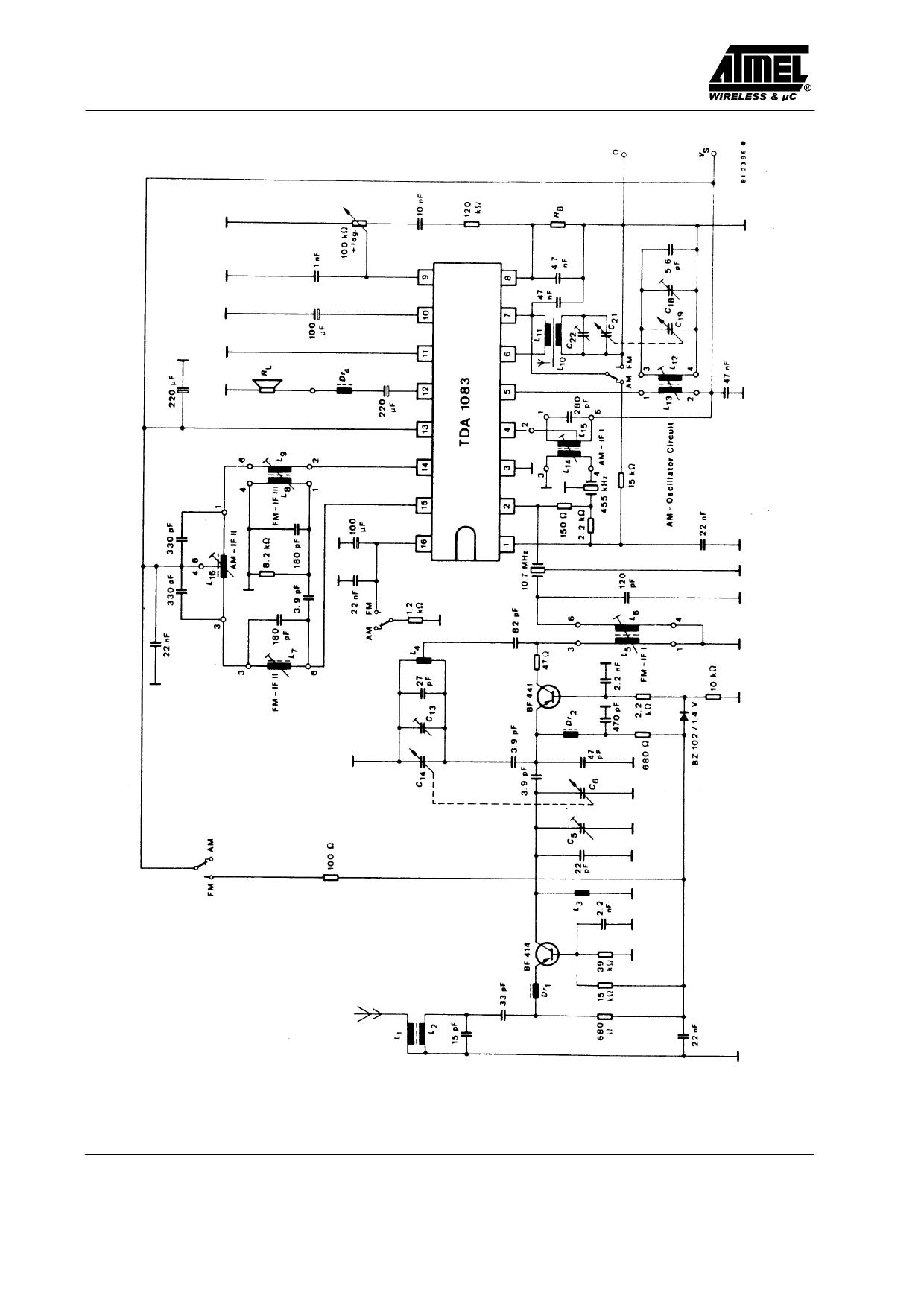 tda1083  u30c7 u30fc u30bf u30b7 u30fc u30c8 pdf  fm radio with audio power