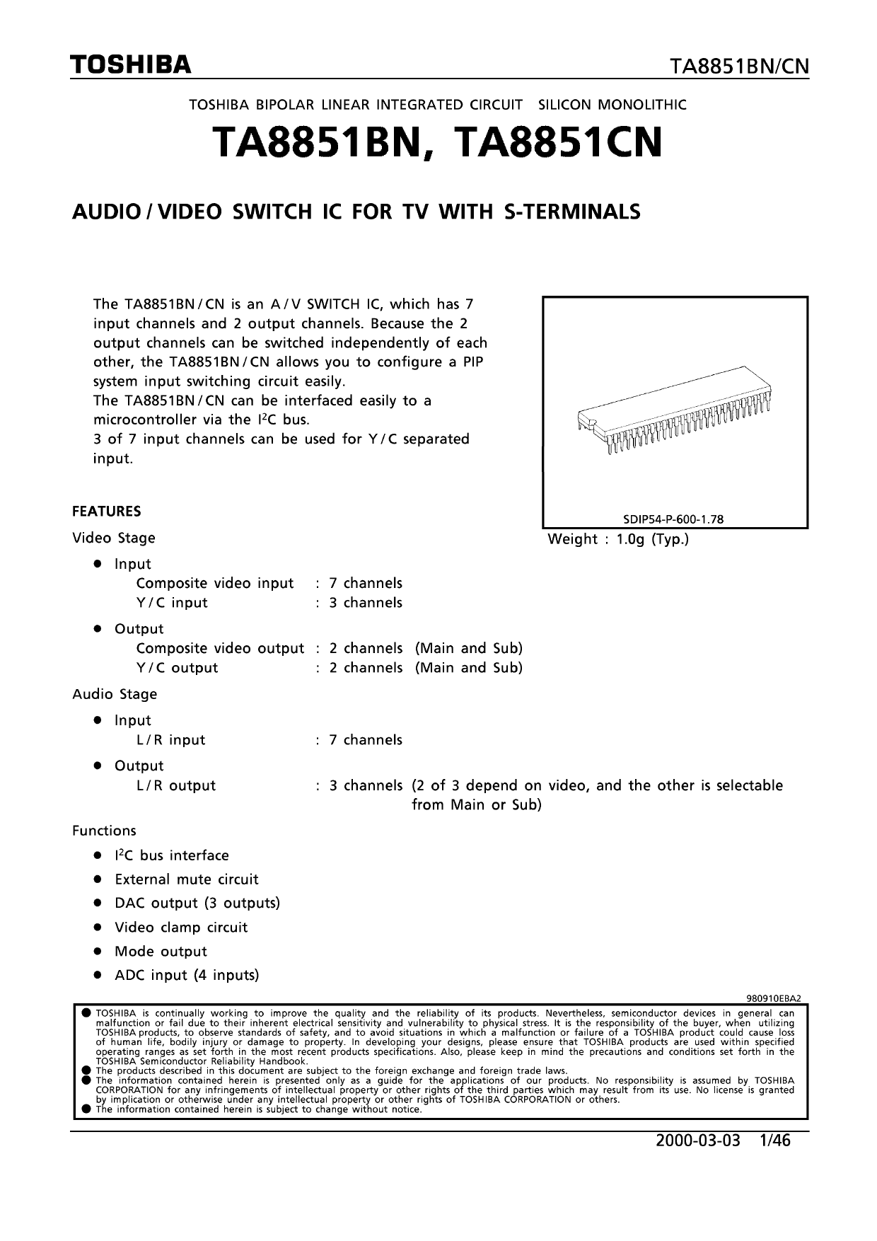 TA8851 datasheet
