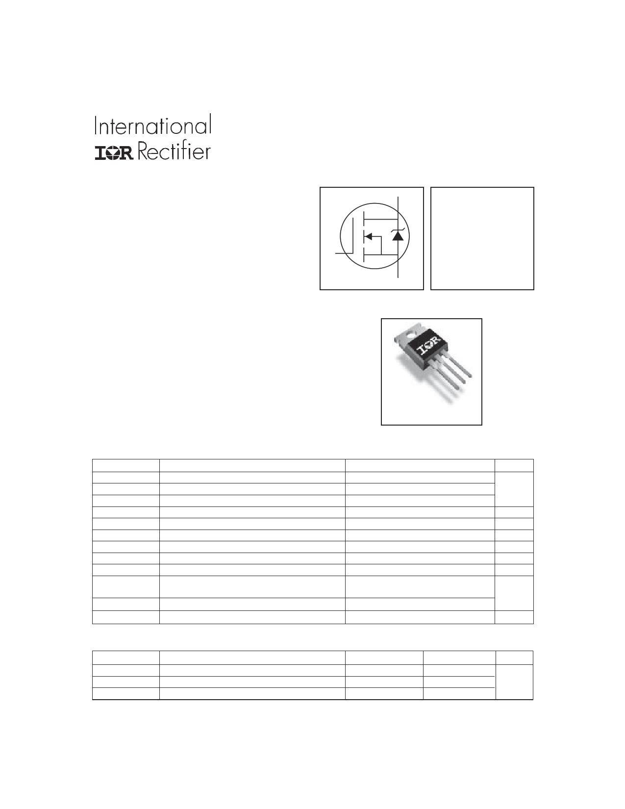 IRFZ46N Datasheet, IRFZ46N PDF,ピン配置, 機能