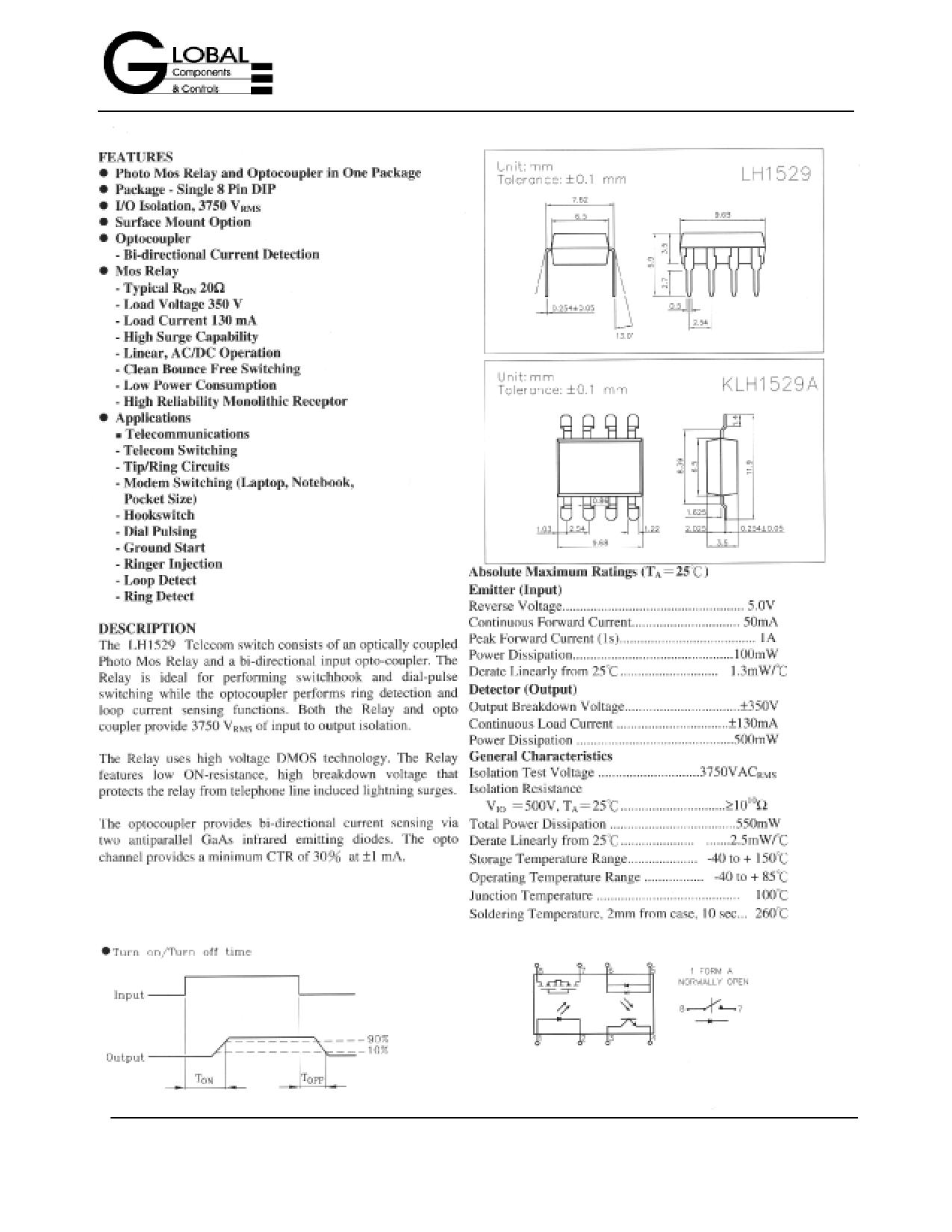 LH1529 دیتاشیت PDF