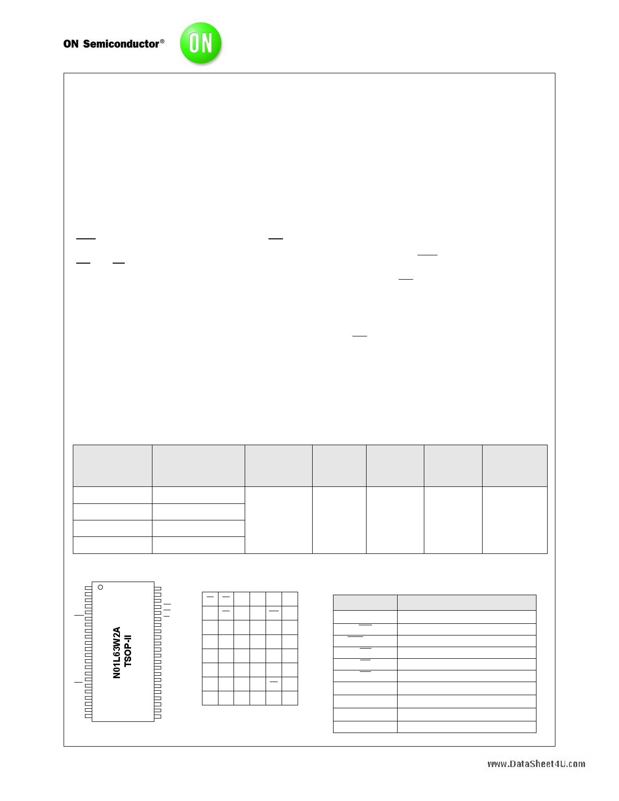 N01L63W2A datasheet