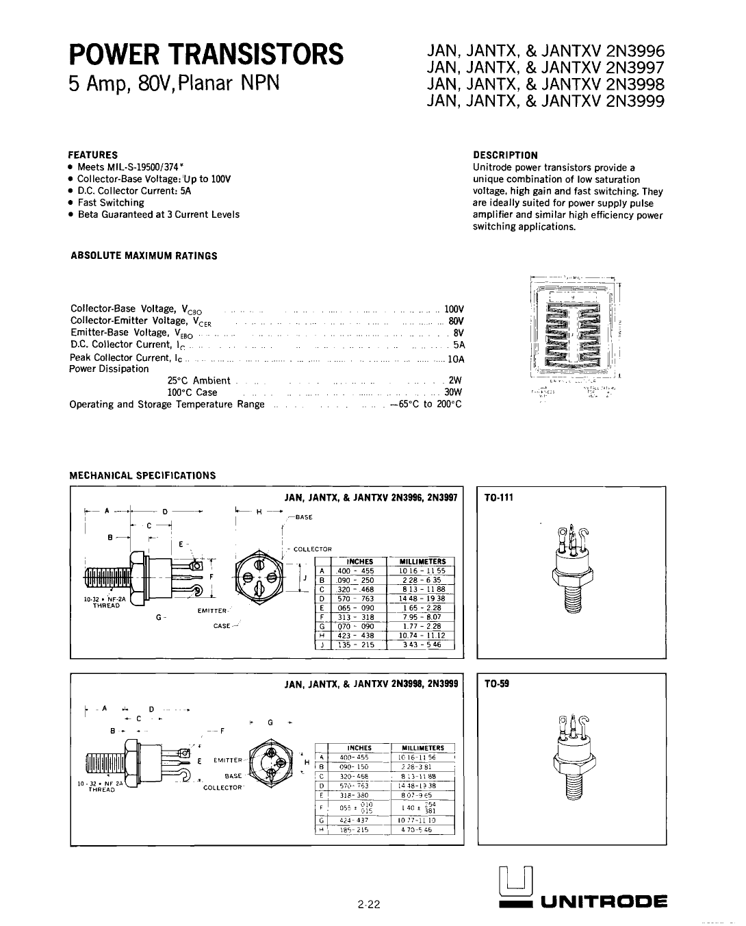 2N3999 دیتاشیت PDF
