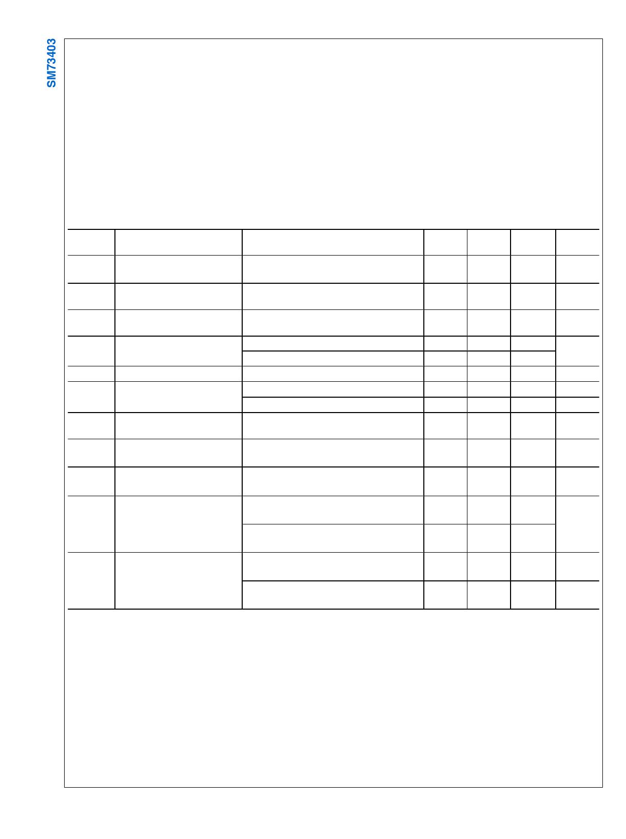 SM73403 pdf, ピン配列