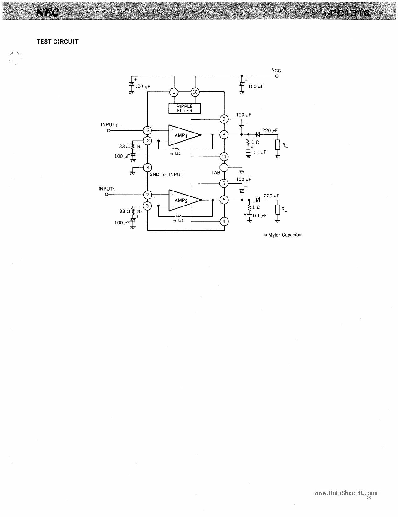 C1316C pdf, ピン配列