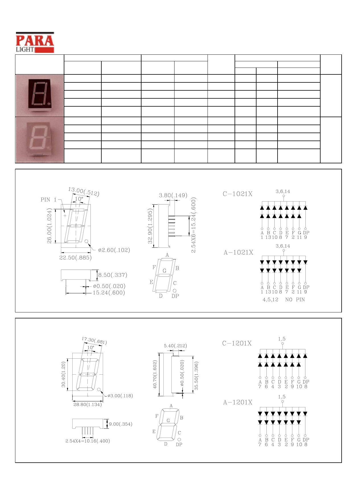 C-1201X 데이터시트 및 C-1201X PDF