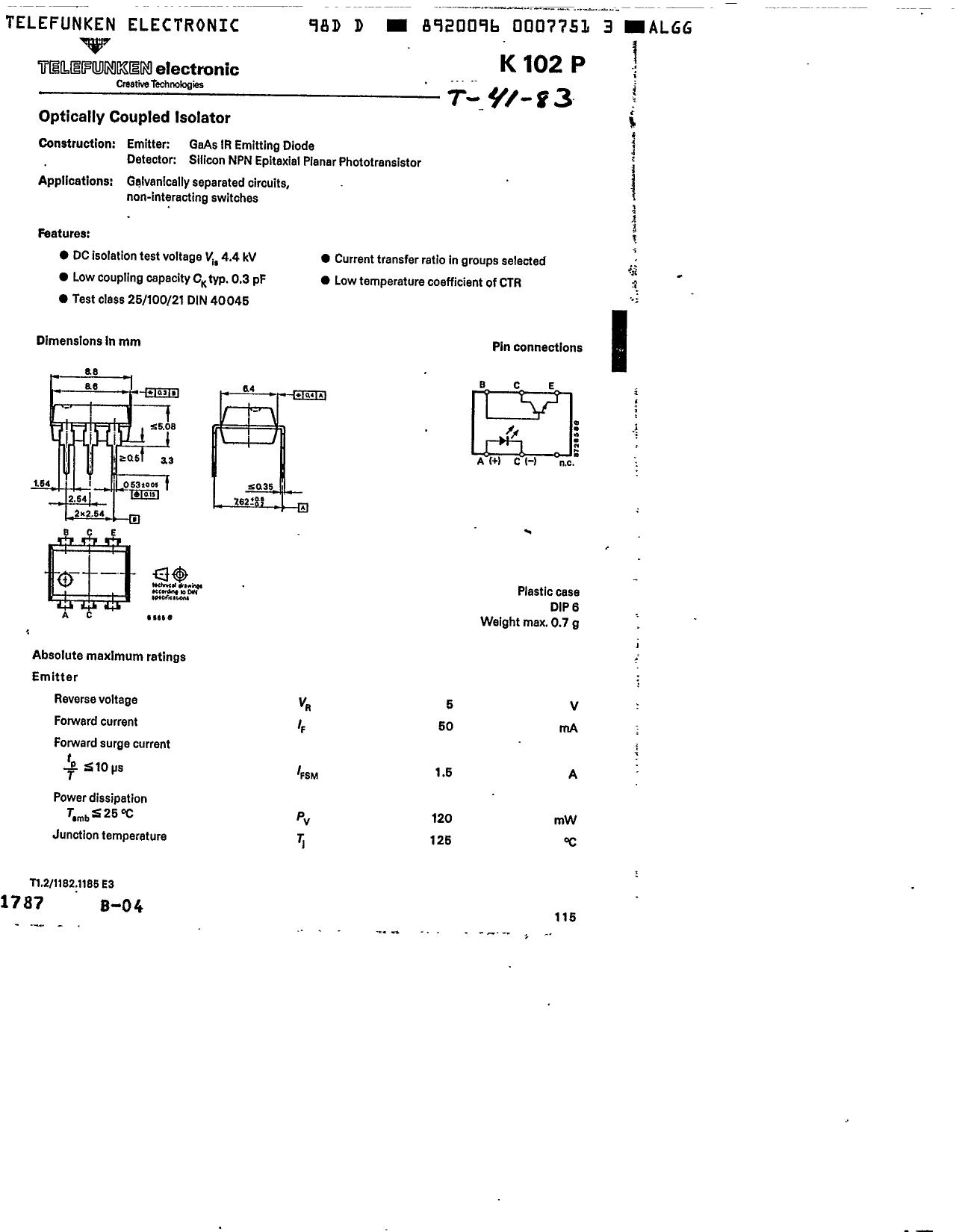 K102P دیتاشیت PDF