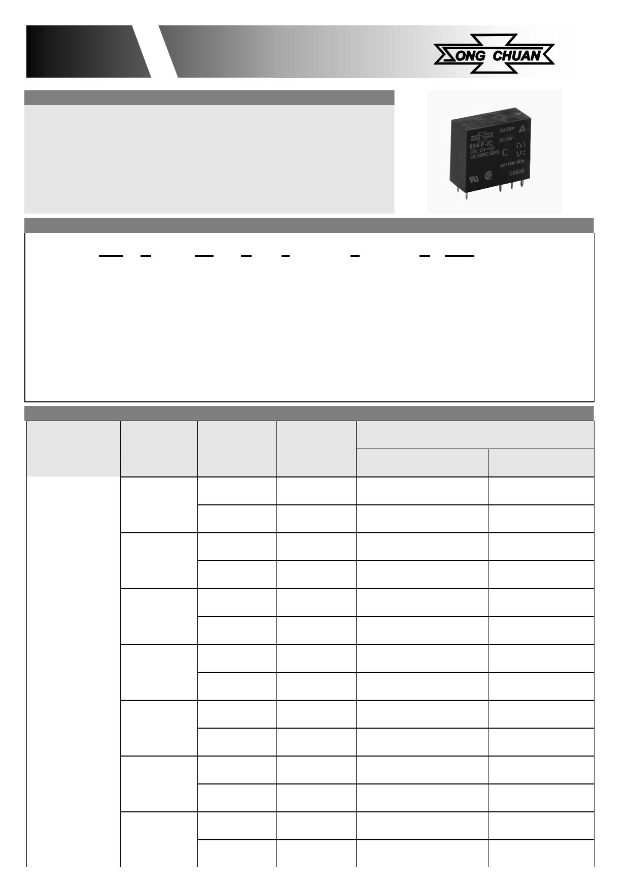894-2AC2-F-S Datasheet, 894-2AC2-F-S PDF,ピン配置, 機能