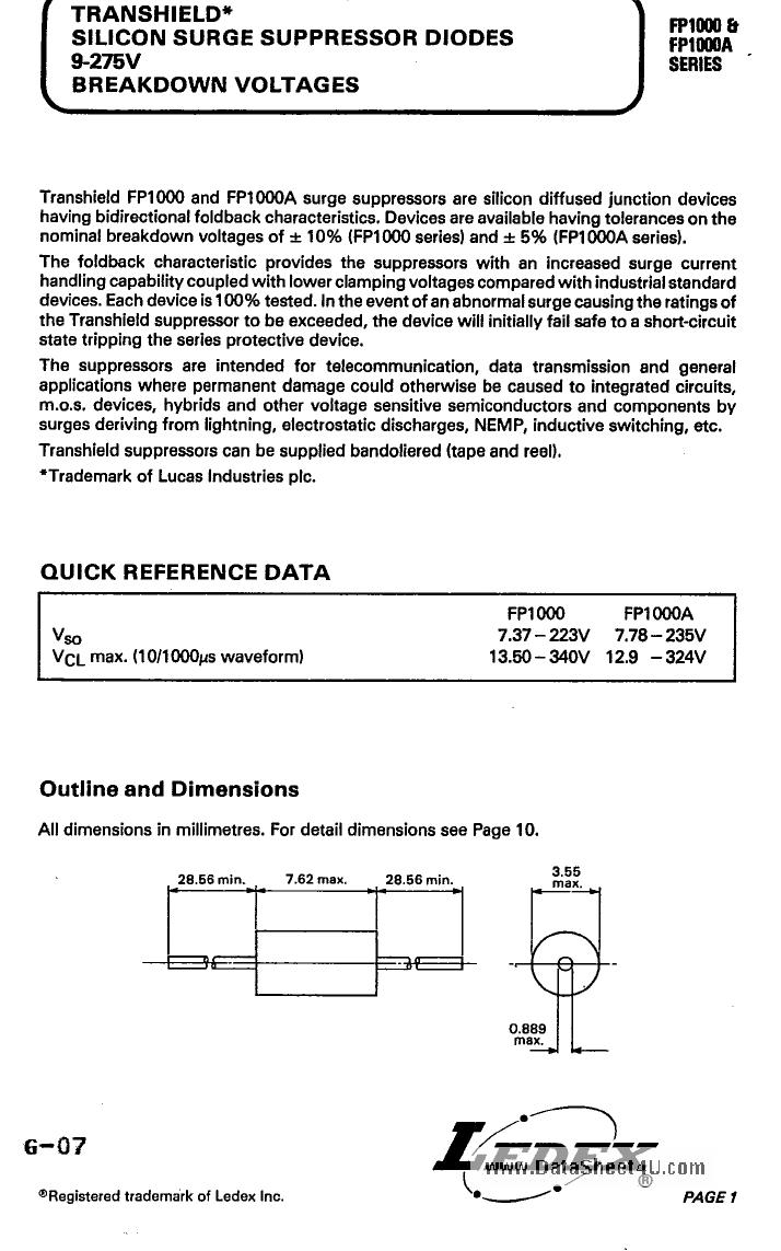 FP1000A دیتاشیت PDF