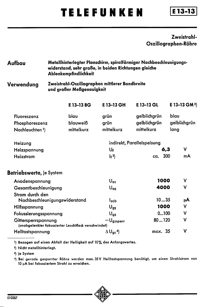 E13-13BG 데이터시트 및 E13-13BG PDF