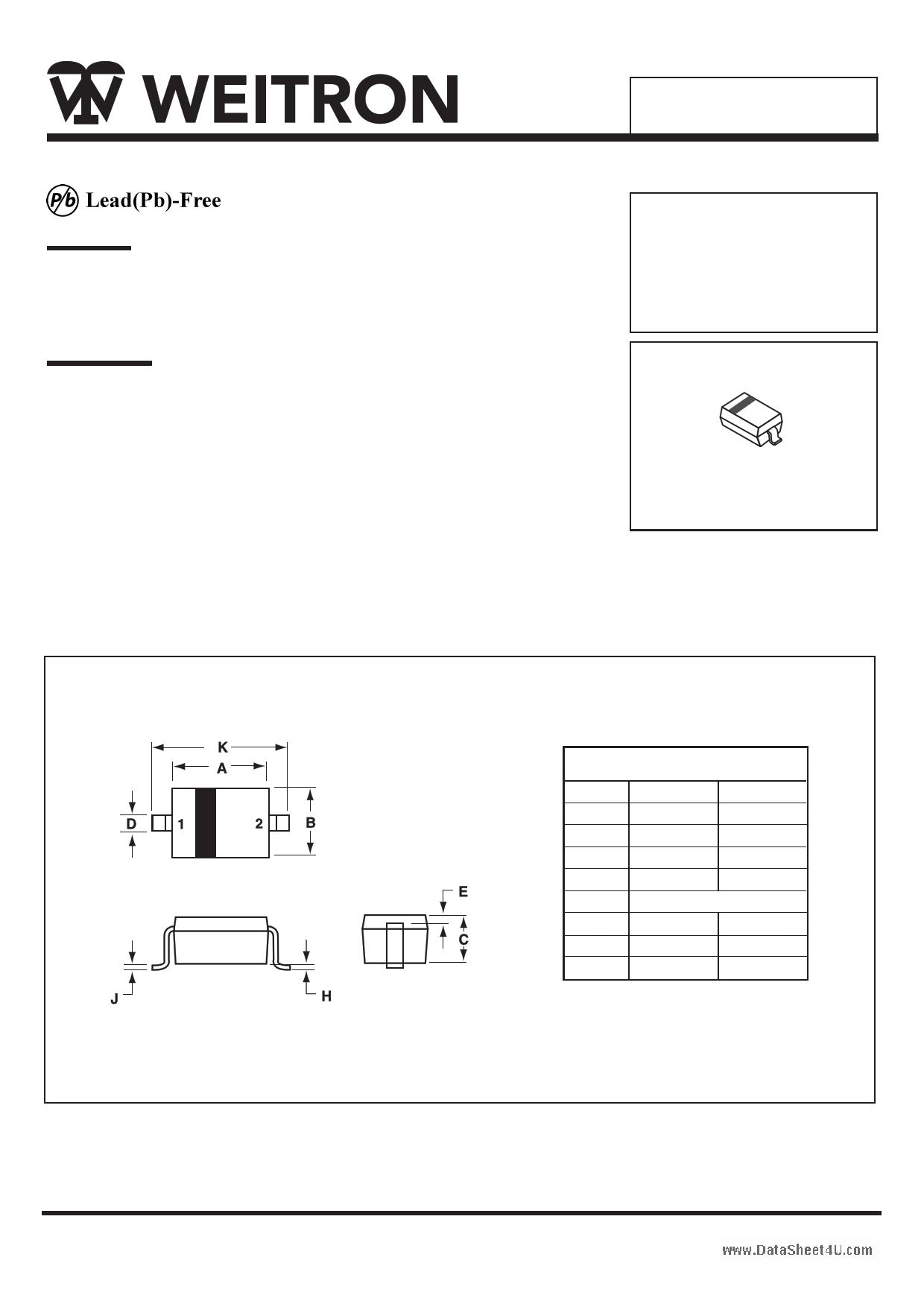 B0530W دیتاشیت PDF