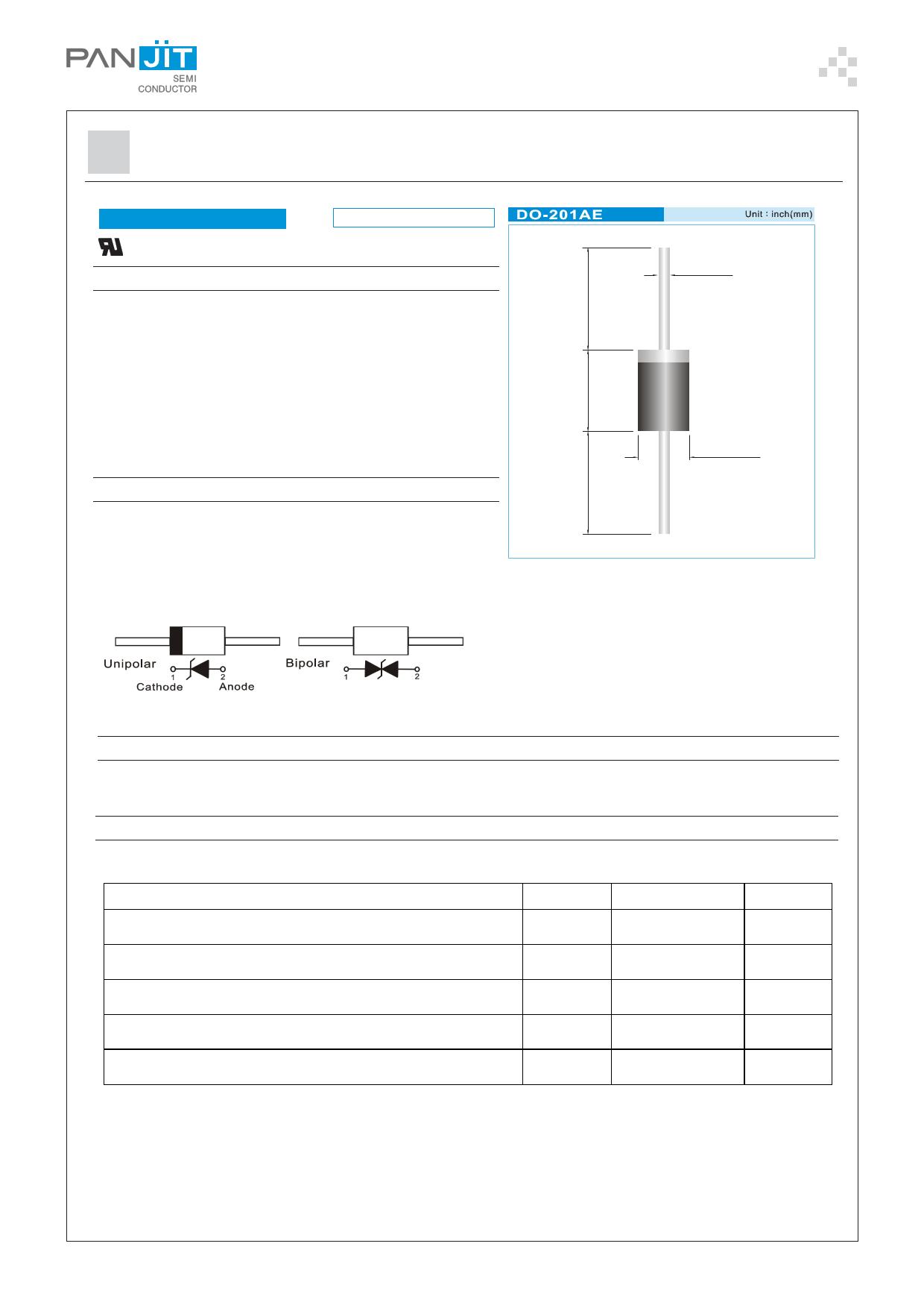 1.5KE56C دیتاشیت PDF