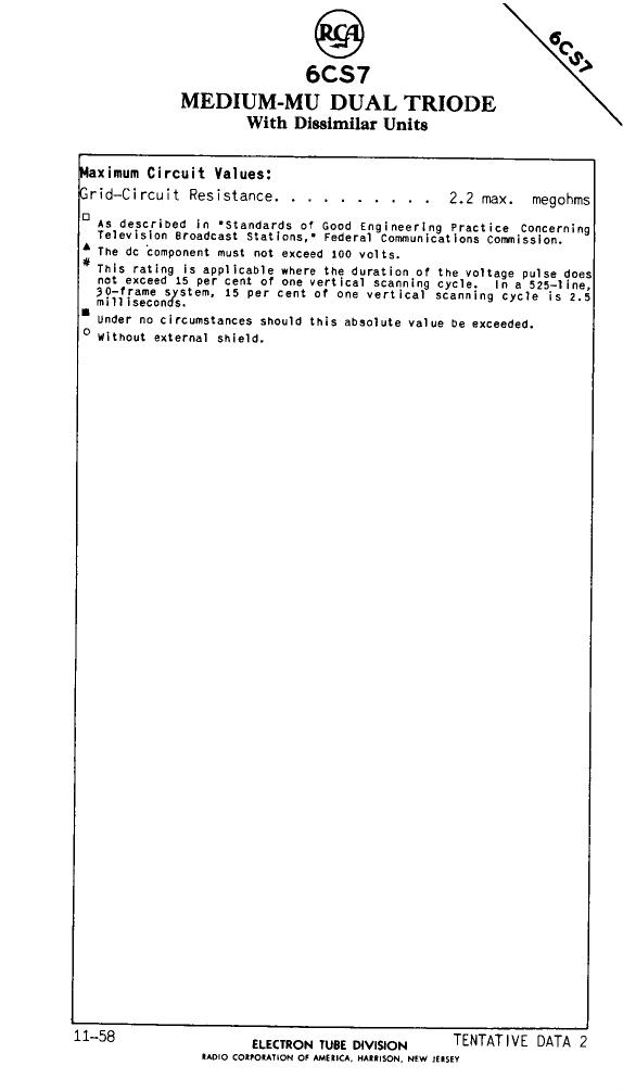 6CS7 pdf, 電子部品, 半導体, ピン配列