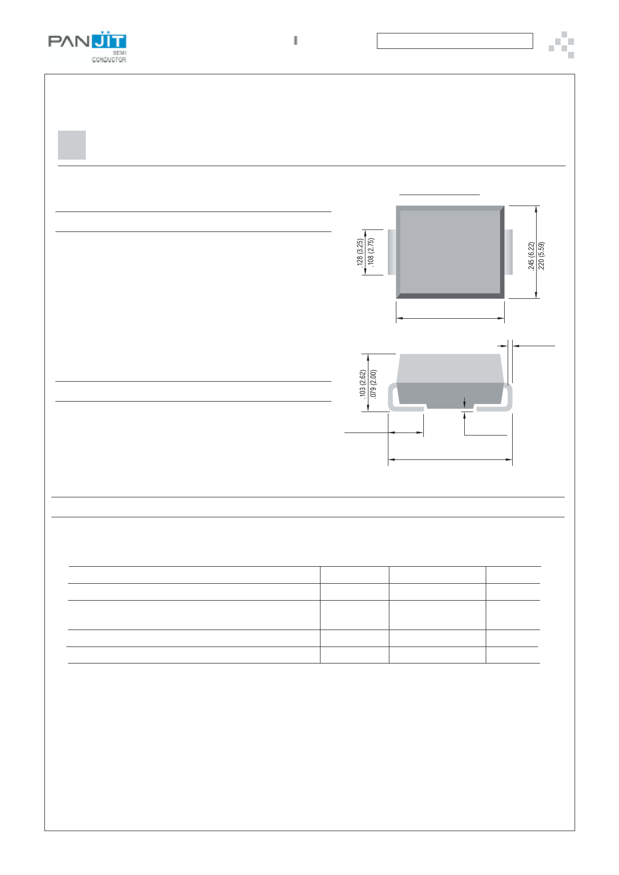 3.0SMCJ100CA دیتاشیت PDF