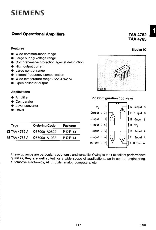 TAA4765 datasheet