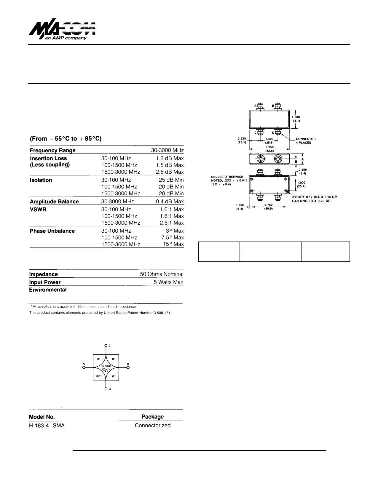 H-183-4 Hoja de datos, Descripción, Manual