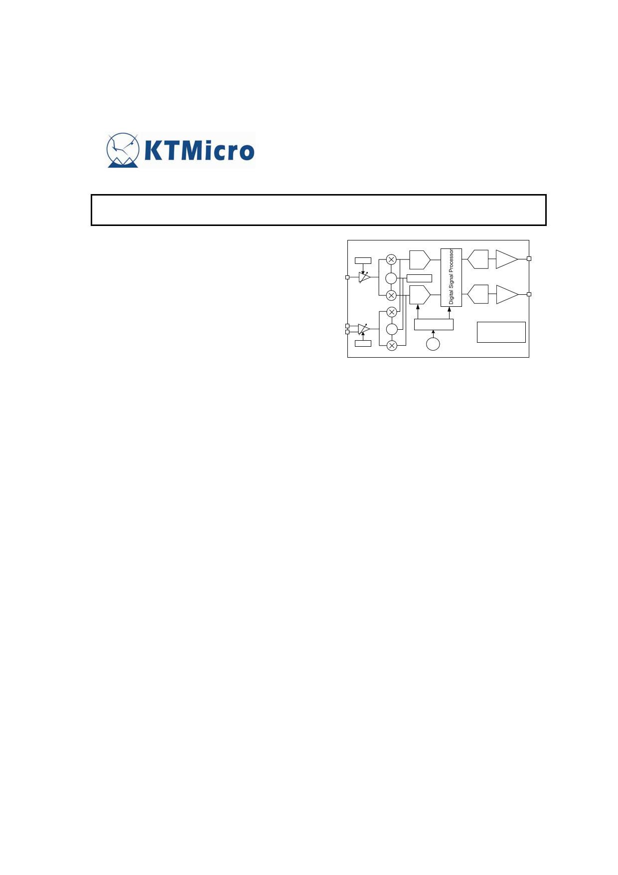 KT0913 دیتاشیت PDF