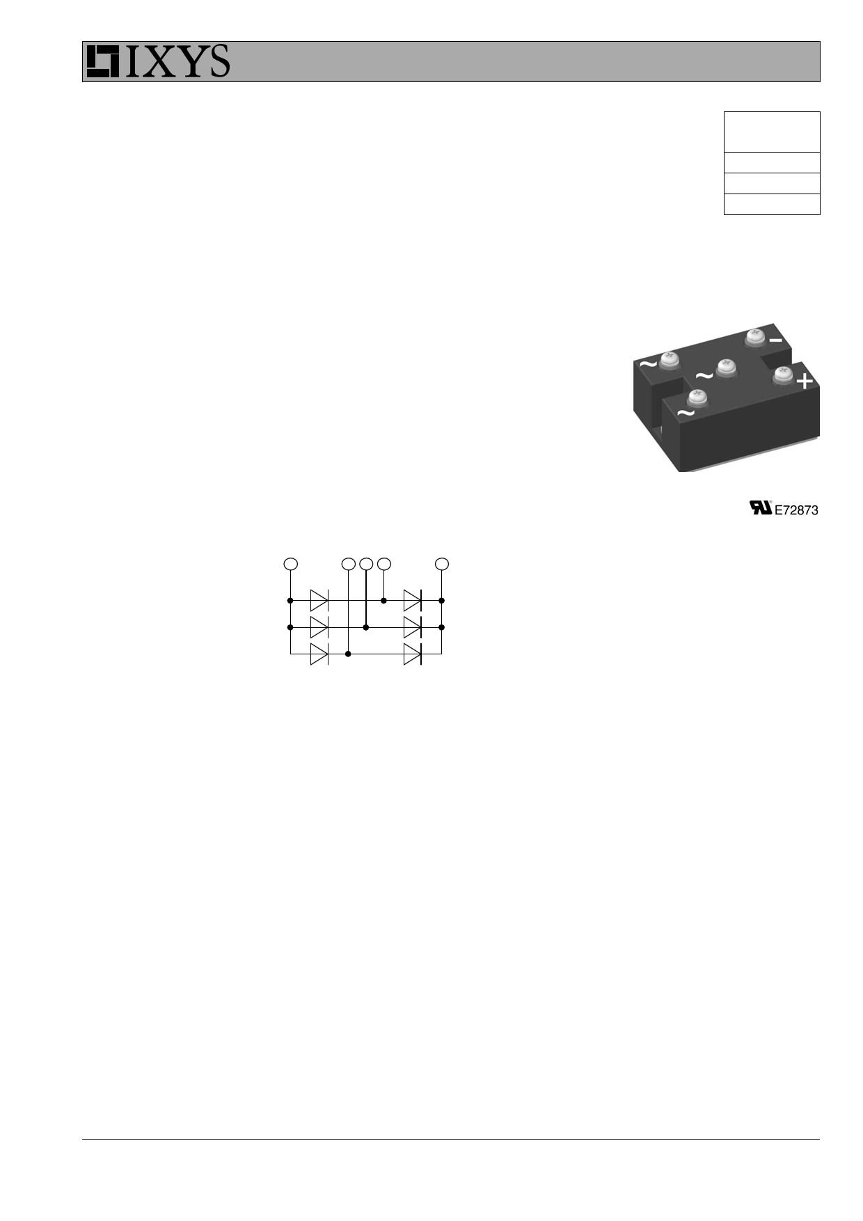 VUO125-16NO7 datasheet