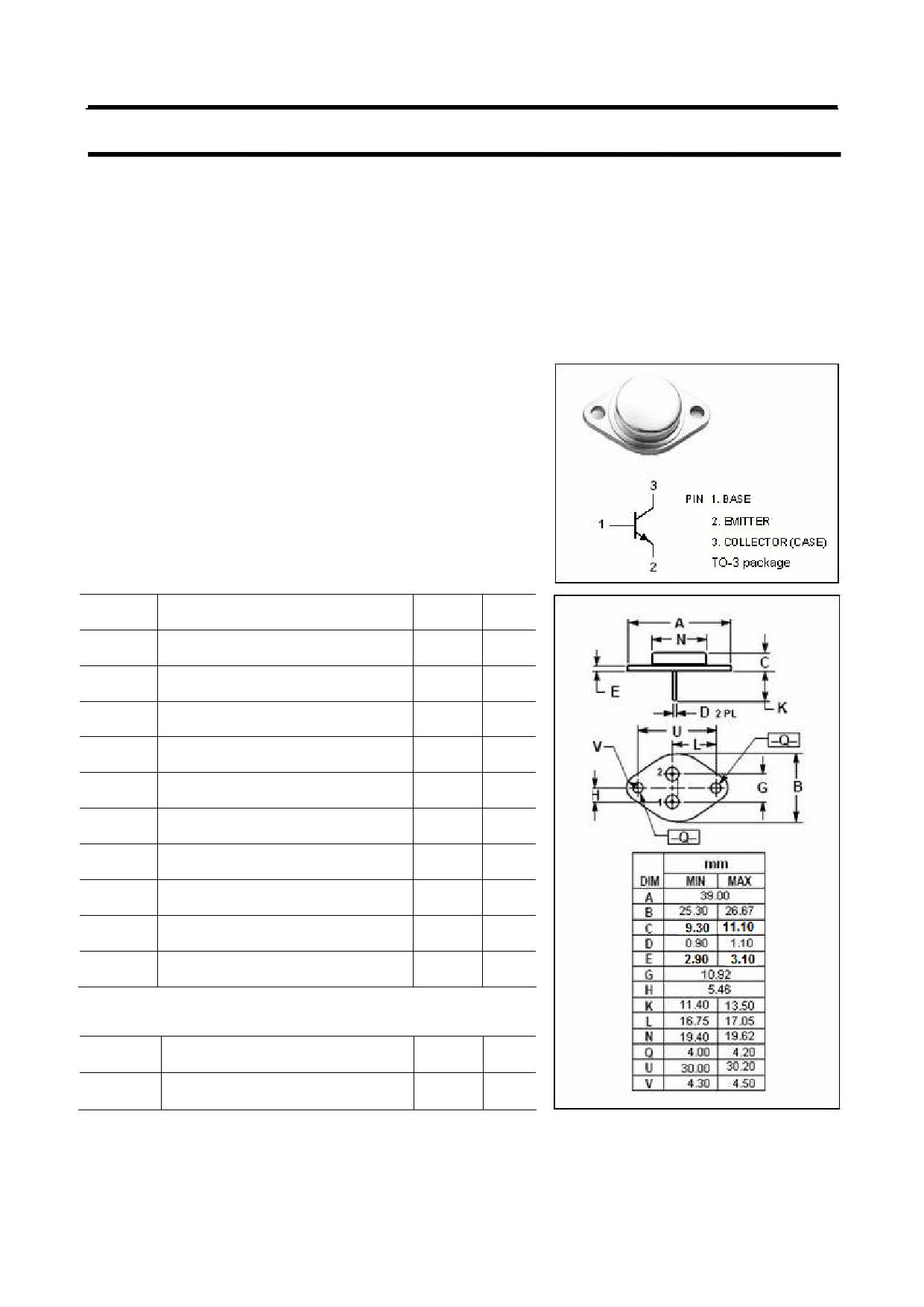 MJ8501 دیتاشیت PDF