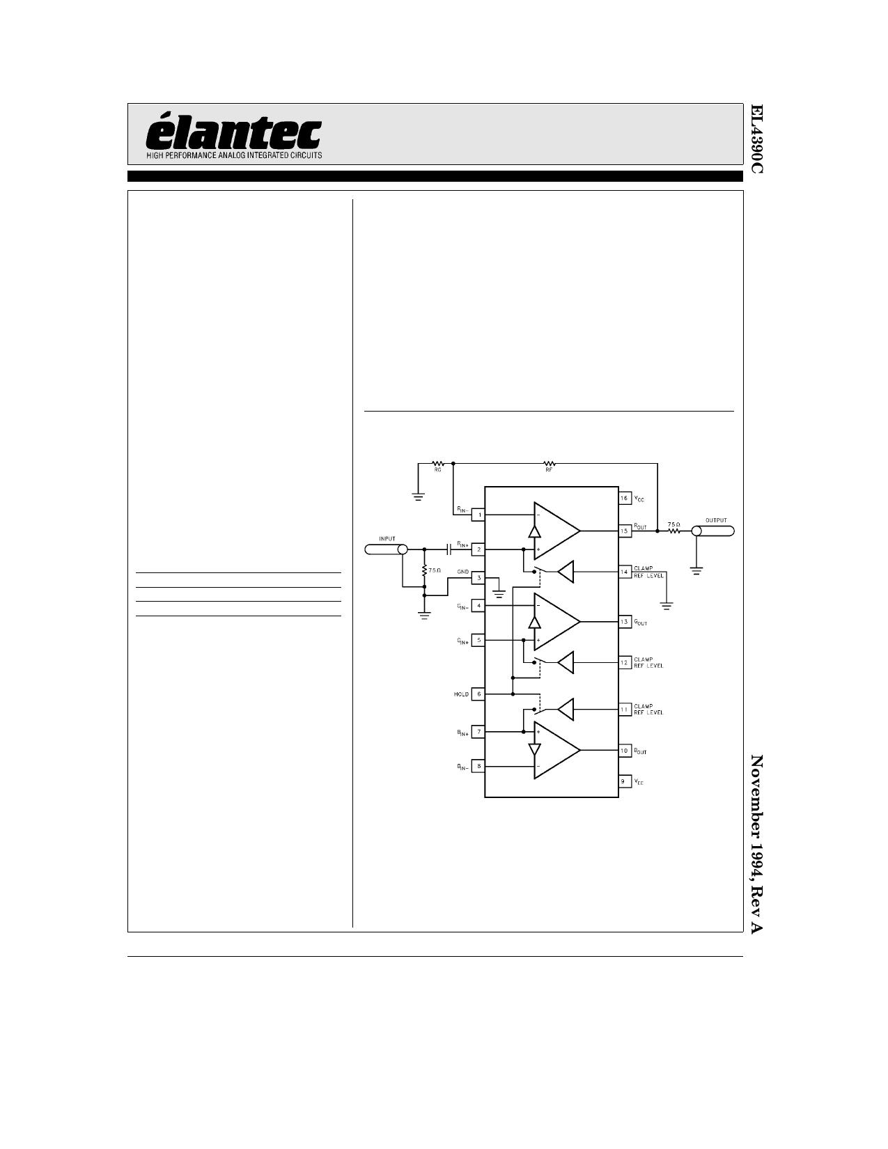 EL4390C دیتاشیت PDF