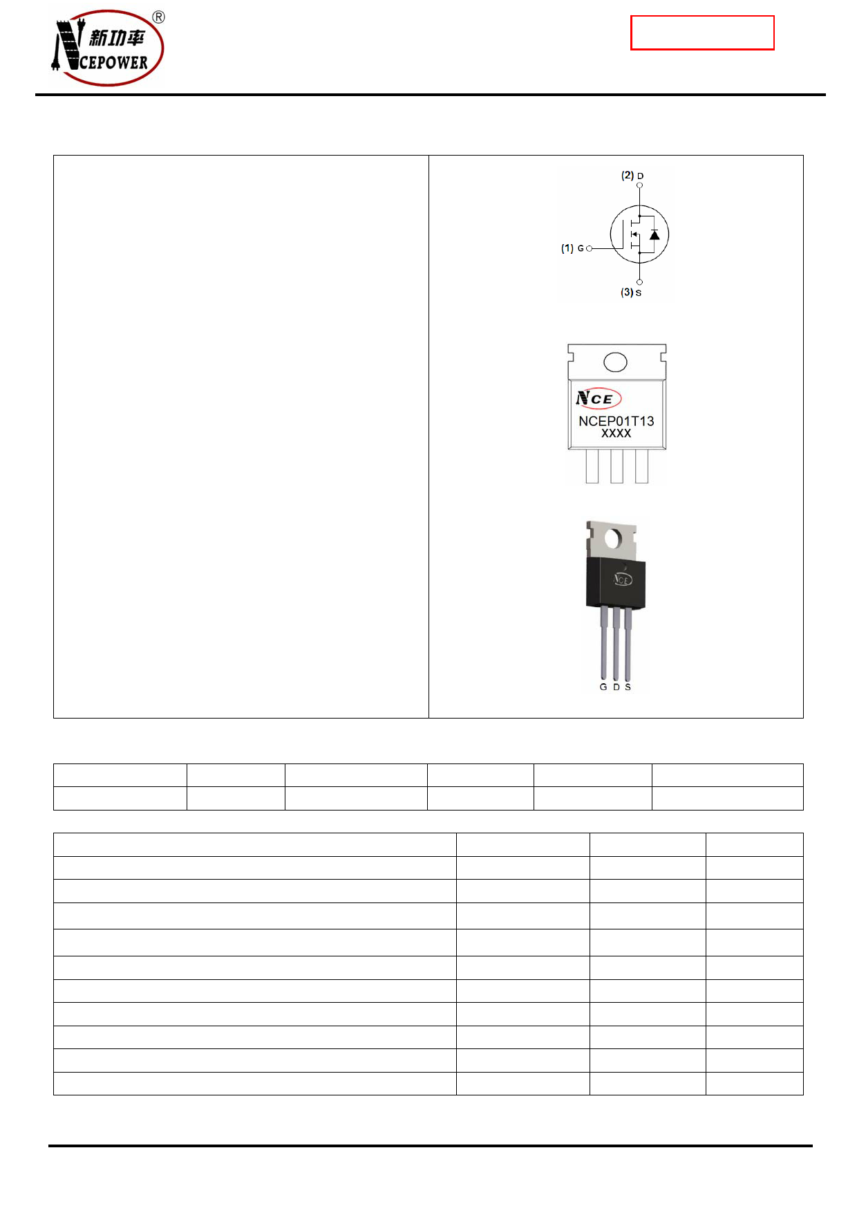 NCEP01T13 دیتاشیت PDF