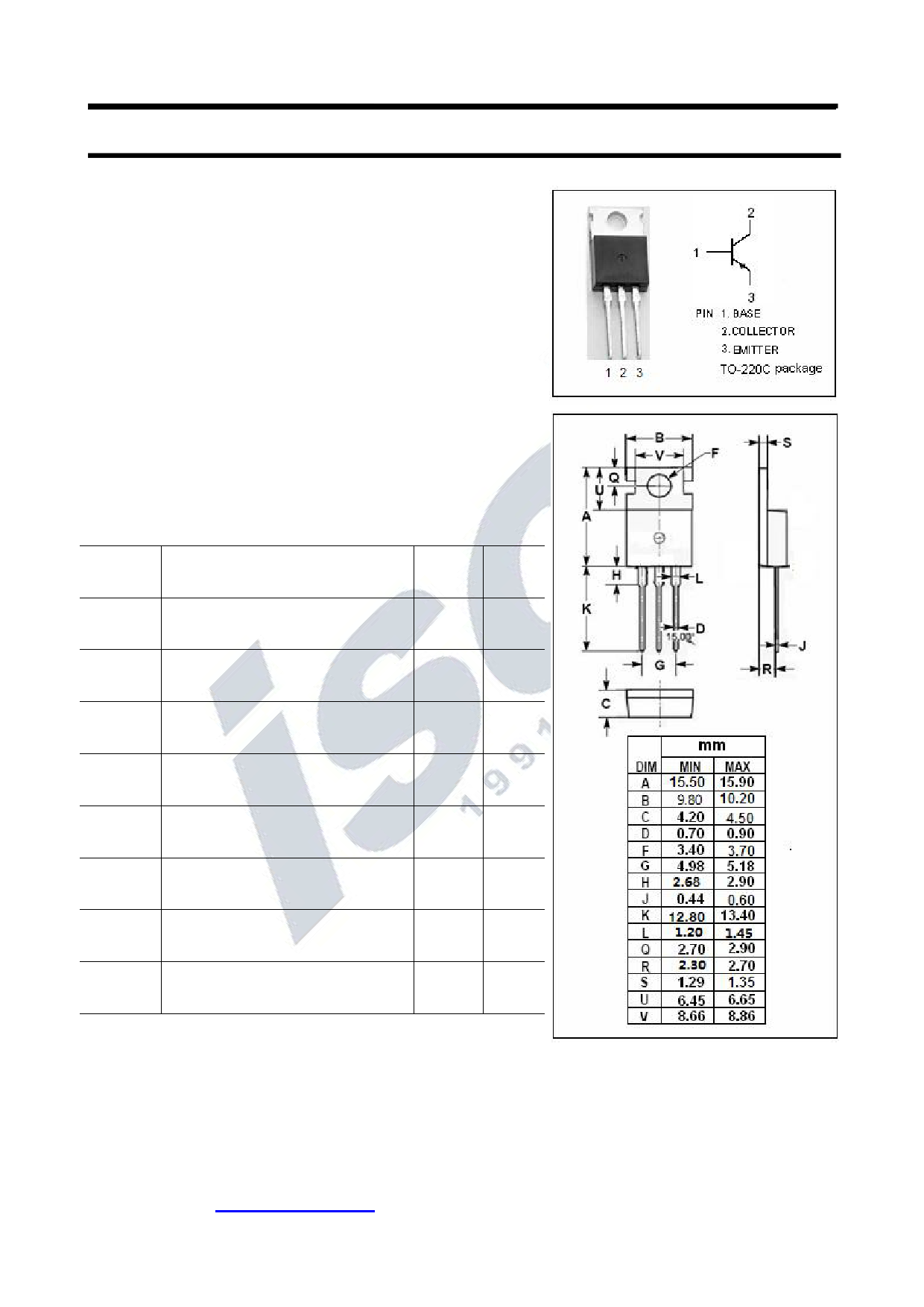 KTB2955 Datasheet, KTB2955 PDF,ピン配置, 機能