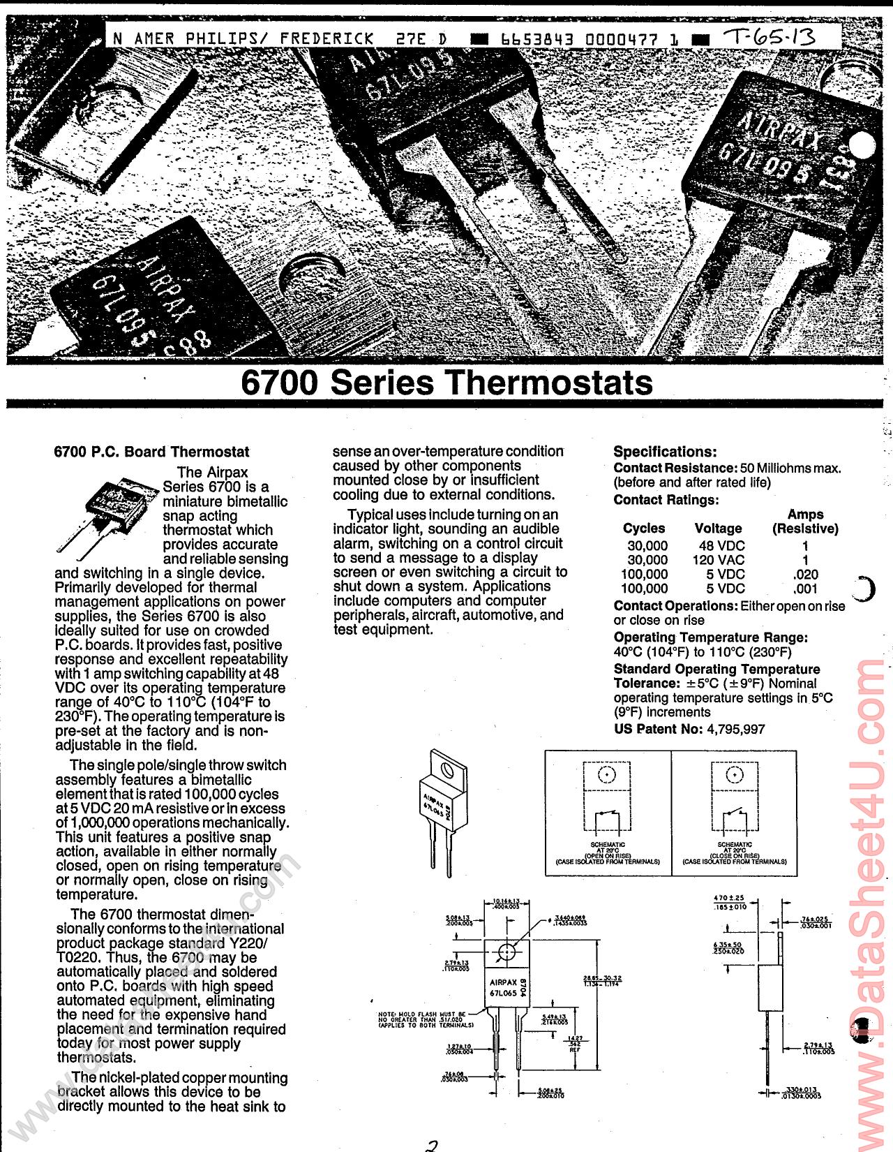 67L05x دیتاشیت PDF