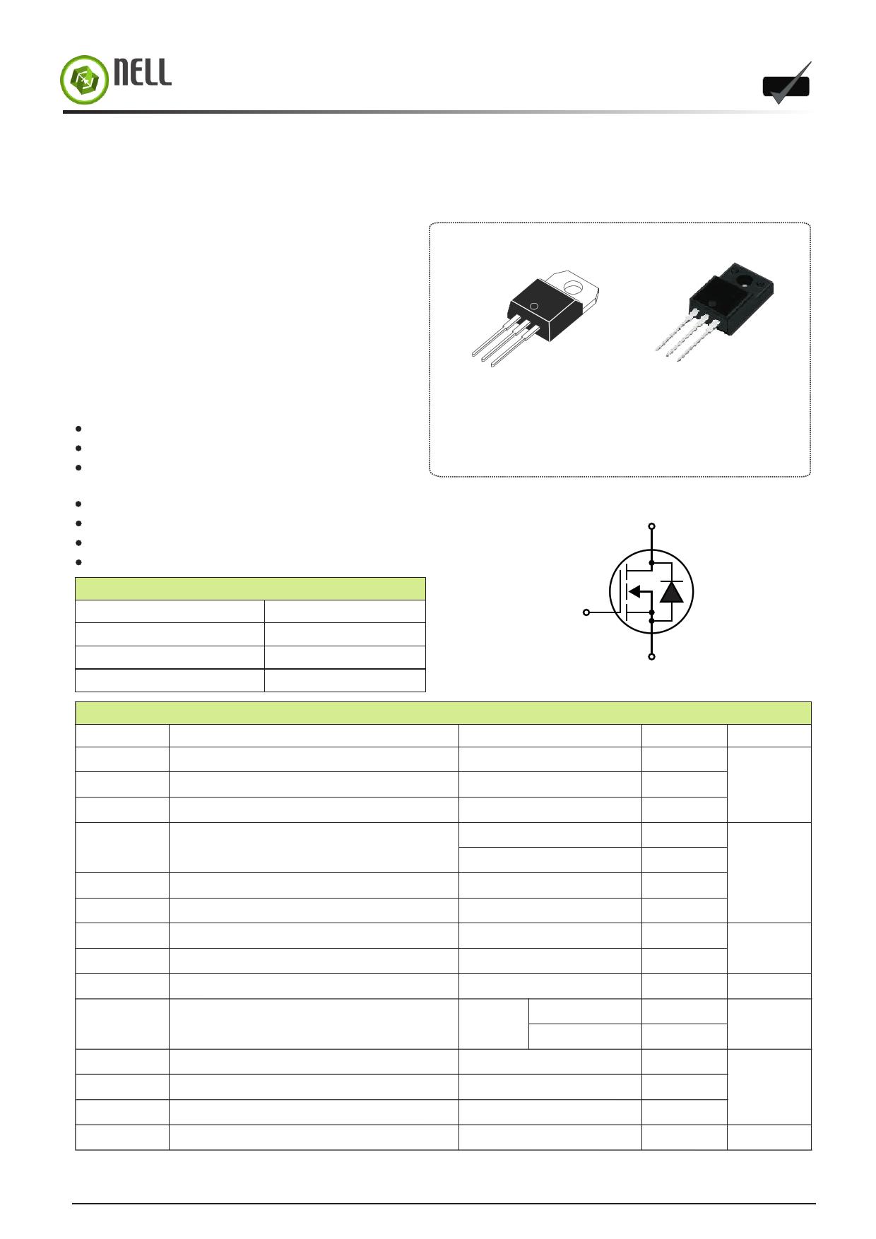I2N60 دیتاشیت PDF