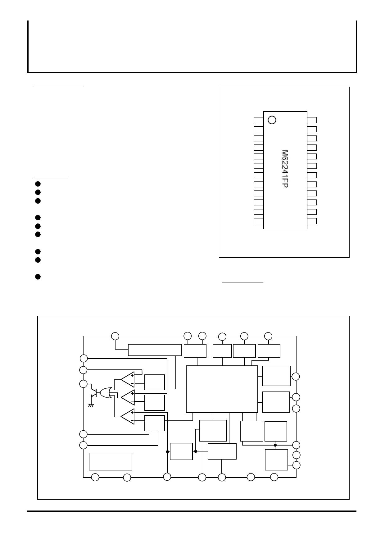 m62241fp datasheet pdf   pinout