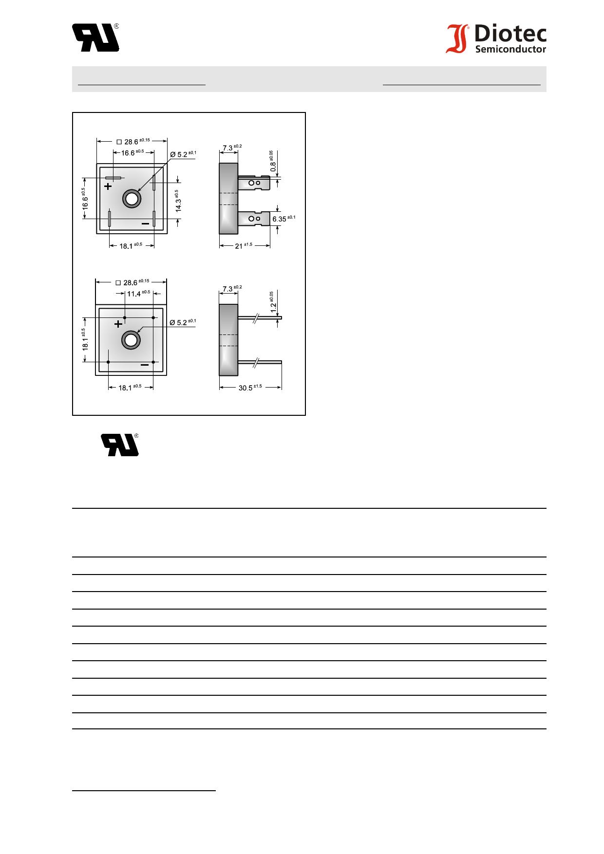 KBPC1000FW دیتاشیت PDF