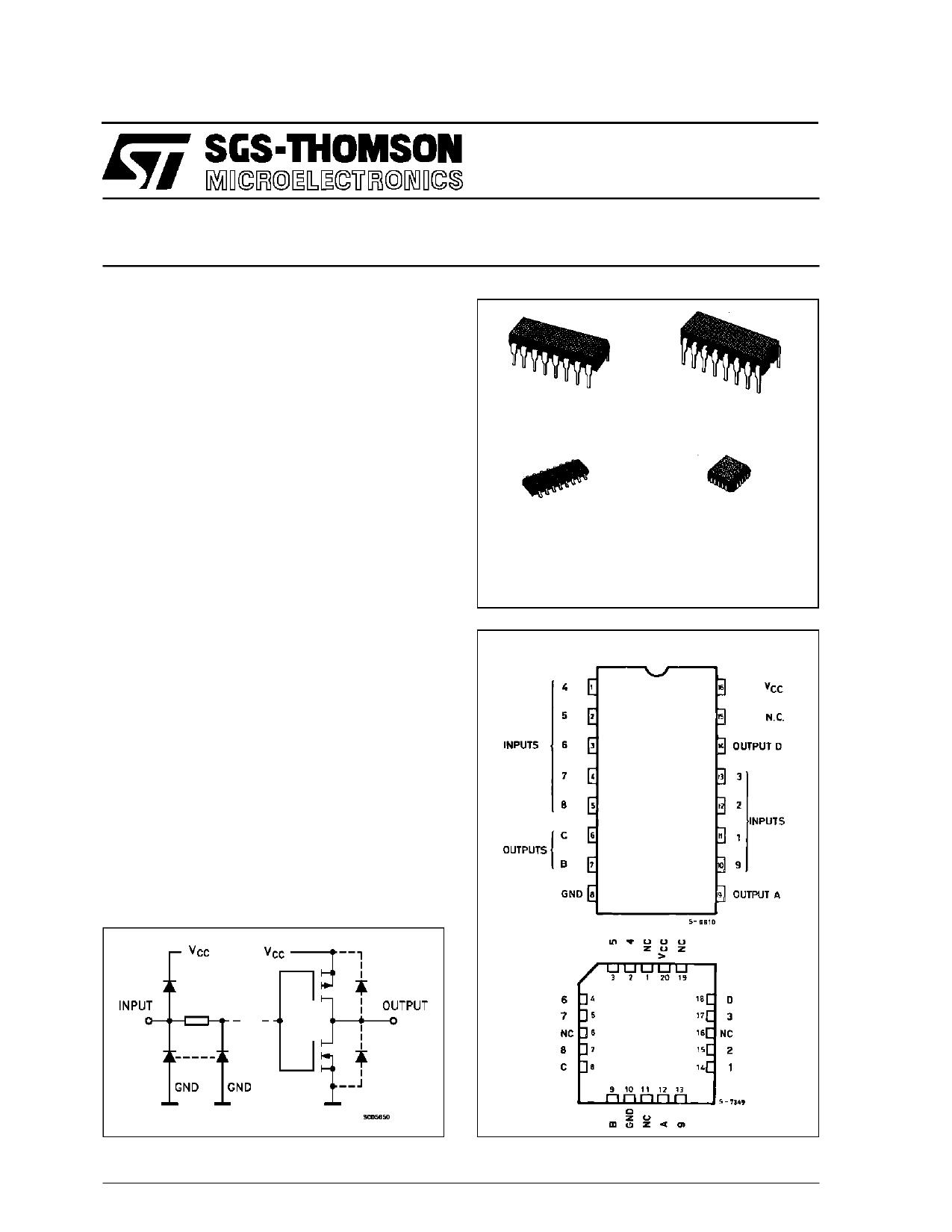 M54HC147 دیتاشیت PDF