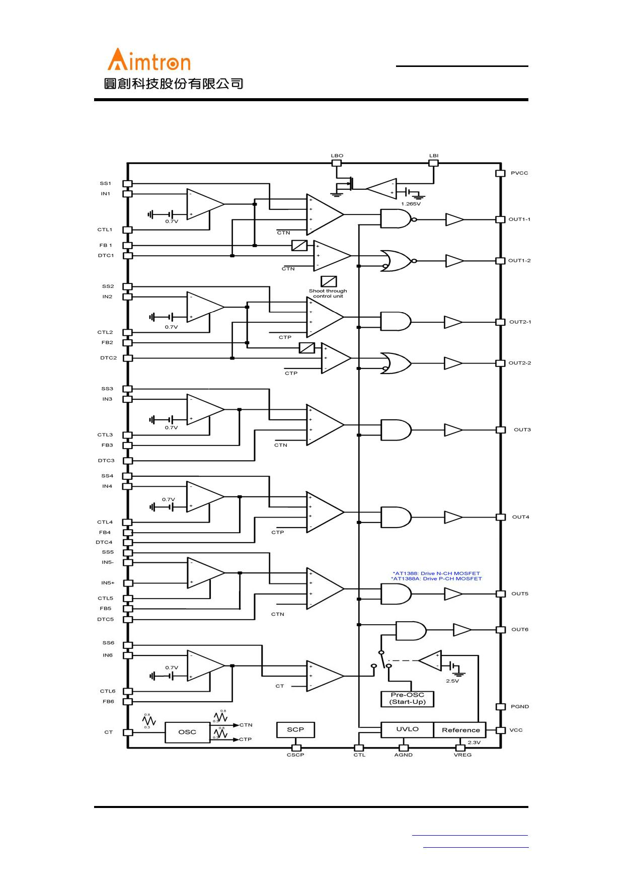 AT1388 pdf, ピン配列