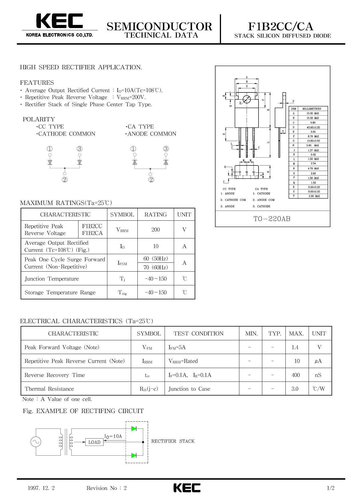 F1B2CC Datasheet, F1B2CC PDF,ピン配置, 機能