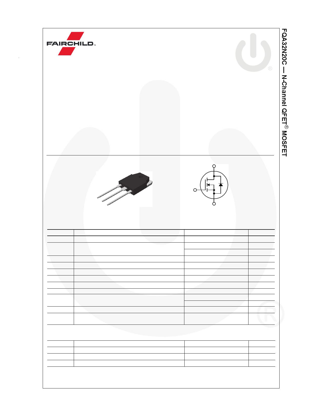 FQA32N20C datasheet