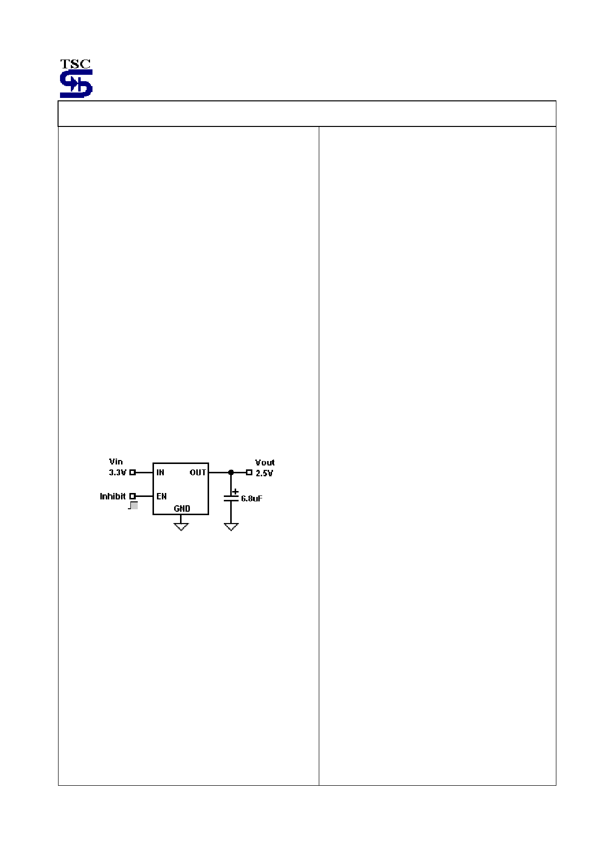 TS2938 pdf, ピン配列