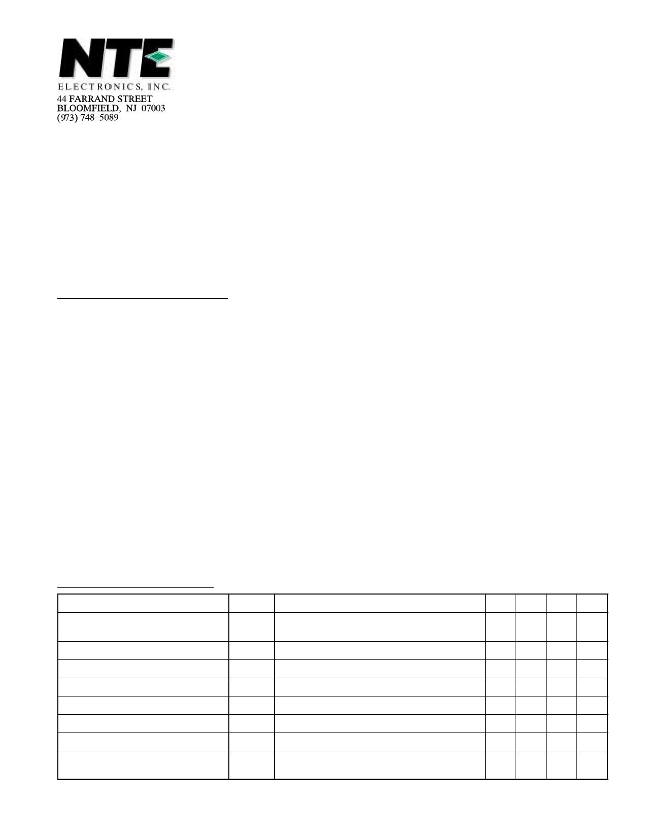 NTE5519 دیتاشیت PDF