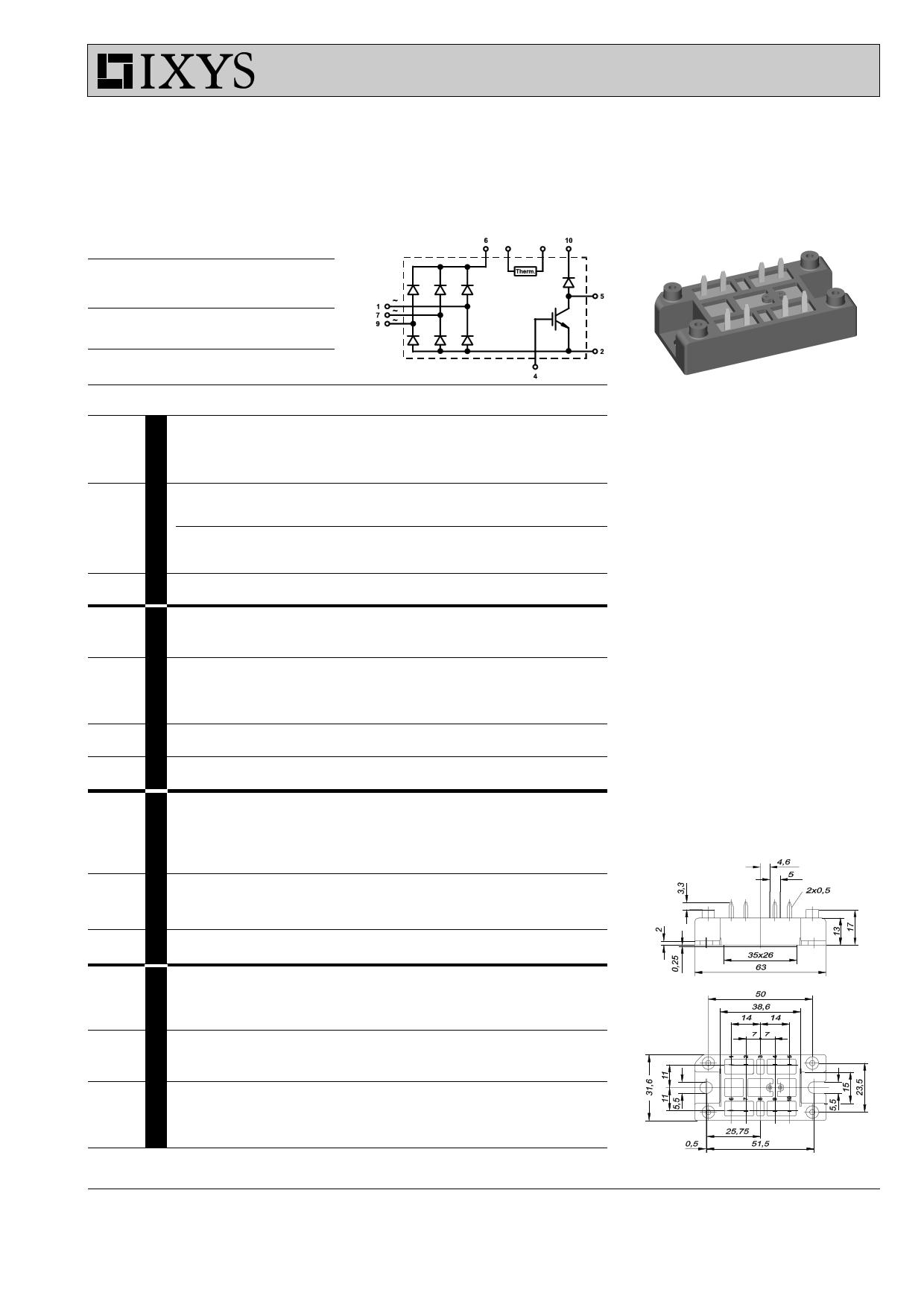 VUB60 datasheet