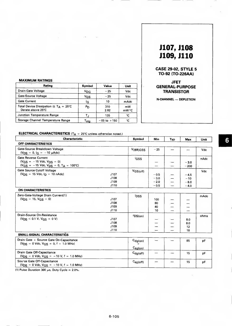 J107 دیتاشیت PDF