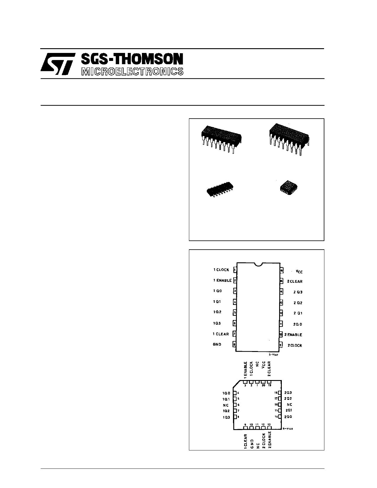 M54HC1520M1R دیتاشیت PDF