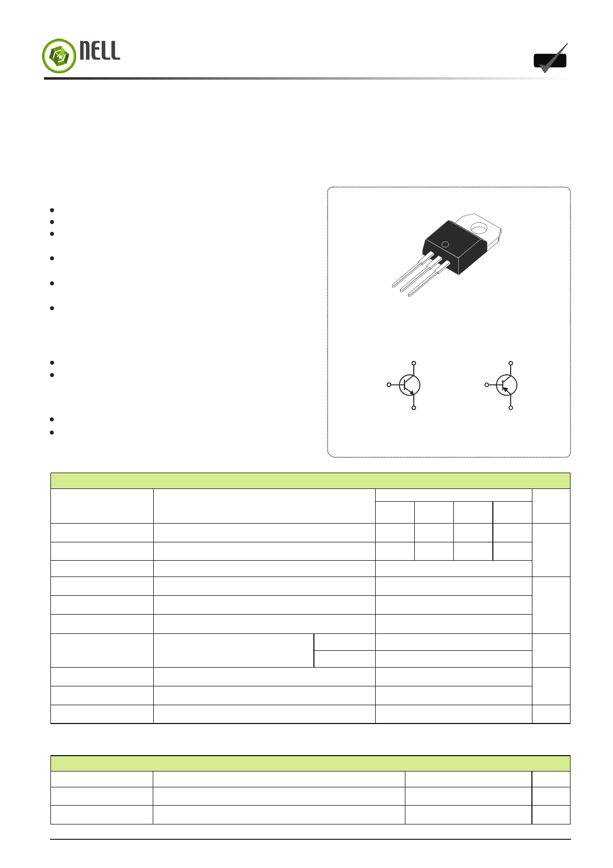 TIP41B دیتاشیت PDF